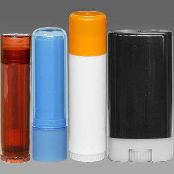 Plastic Lip Balm Containers